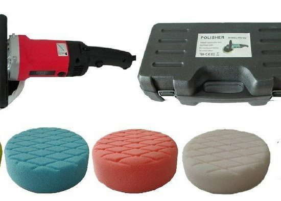 Polisher with 200mm Foam Pad Buffing Kit for Paint and Fibreglass 162461561212